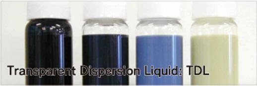Transparent Dispersion Liquid